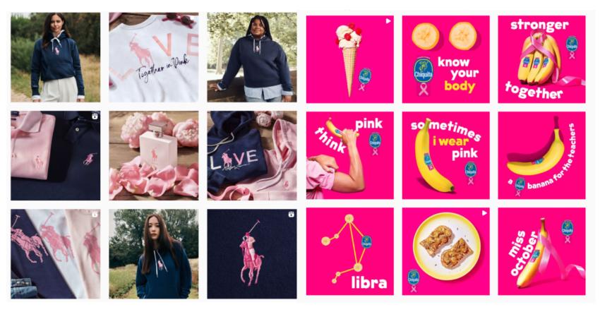 Ottobre rosa: le iniziative dei brand sui social